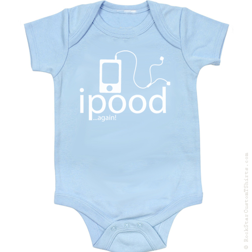 a8a5fac25 Ipood Apple Ipod Parody Cute Funny Baby Onesie – 11 Great Colors!